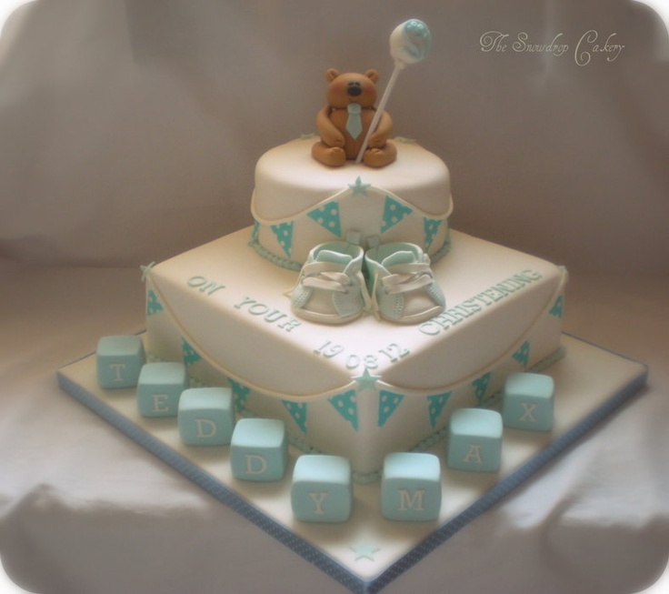 Baptism Boy For Christening Cake | boys christening cake - by thesnowdropcakery @ CakesDecor.com - cake ...