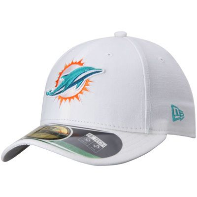 Miami Dolphins New Era On-Field Low Crown 59FIFTY Fitted Hat - White