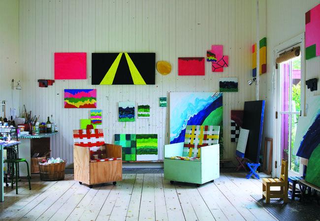 Mary Heilmann's Studio
