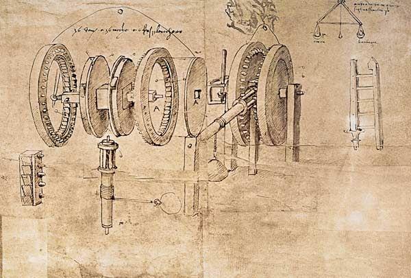 "Leonardo Da Vinci | Leonardo da Vinci ""Facsimile of Codex Atlanticus f.8v-b Transformation ..."