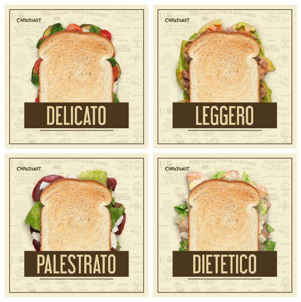 Nel Menù di Capatoast trovi anche i Toast LIGHT dedicati a chi è attento alla linea!  Formaggi magri, fesa di tacchino, bresaola, tonno, verdure.. poche calorie e tantissimo gusto. DELICATO, LEGGERO, PALESTRATO, DIETETICO; anche in versione PANE INTEGRALE! Lo spuntino ideale per i fanatici del fitness è solo da CAPATOAST la prima Toasteria Take Away in Italia; scopri il Menù completo sul sito www.capatoast.it