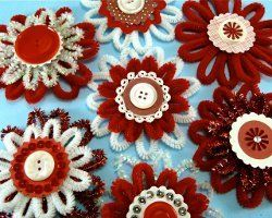 Chenille Button Flower Ornaments | Give your tree a touch of spring!