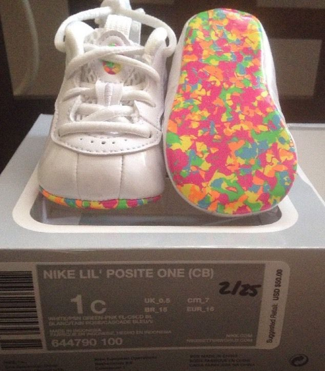 Nike Lil Baby Cereal Fruity Pebbles Foamposites INFANT Size 1 0-3 Months # Nike