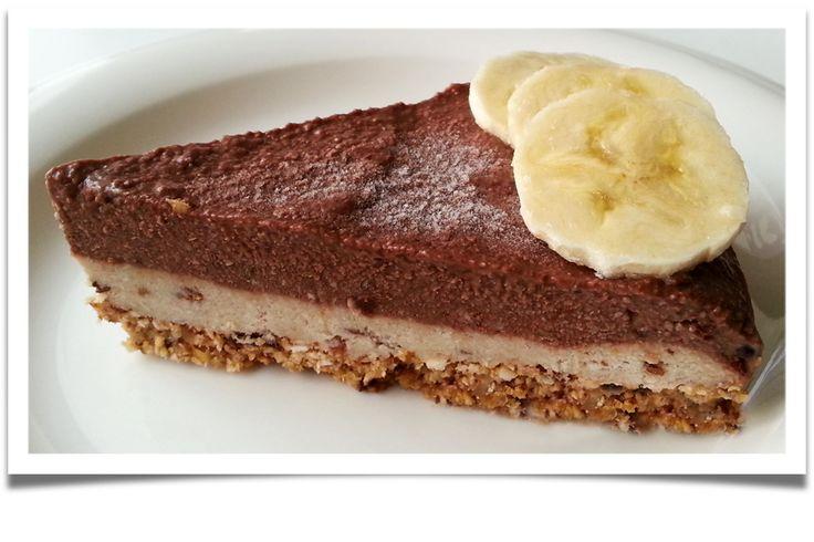 Mishka´s Diary: Čoko-banánový dortík (raw)