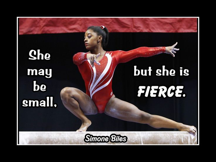 """Gymnastics Motivation Poster Simone Biles Photo Quote Encouragement Wall Art 5x7""""-11x14"""" She May Be Small But She Is Fierce - Free Ship by ArleyArt on Etsy"""