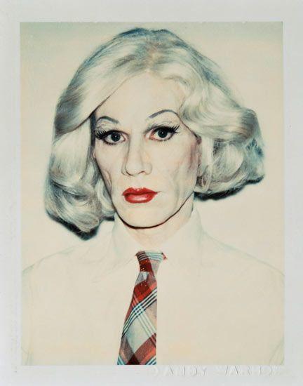 Andy Warhol:  Self portrait in Drag, 1981