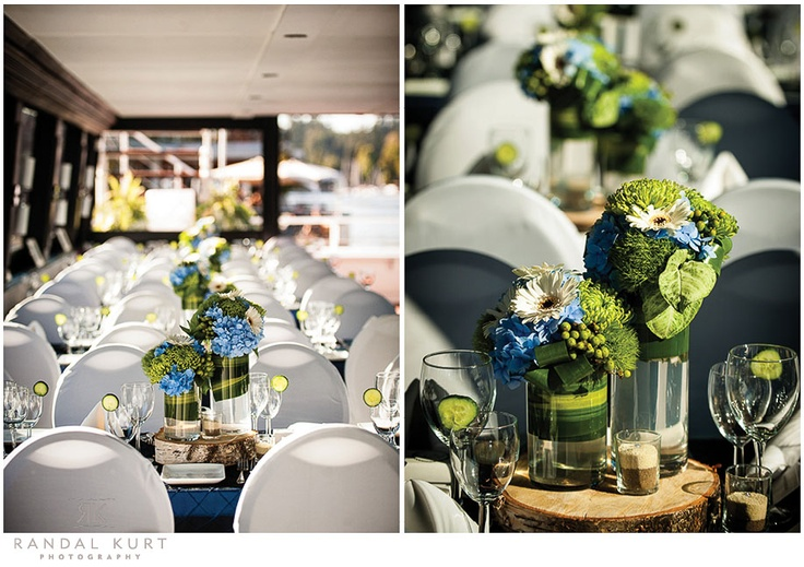 A & D | Blue & Green Decor | The Wedding Yacht