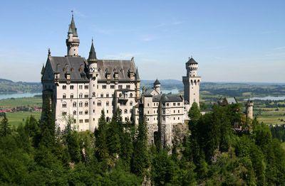 Neuschwanstein Castle (Ludwig's Castle) South of Munich.