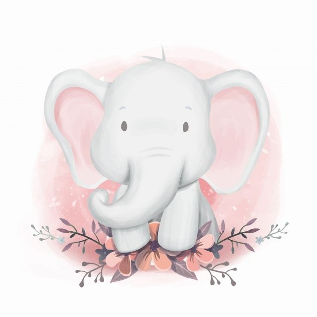 Shower Elephant Gender Neutral Adorable Animal Art Png And Vector With Transparent Background For Free Download Elephant Baby Showers Baby Art Elephant Illustration