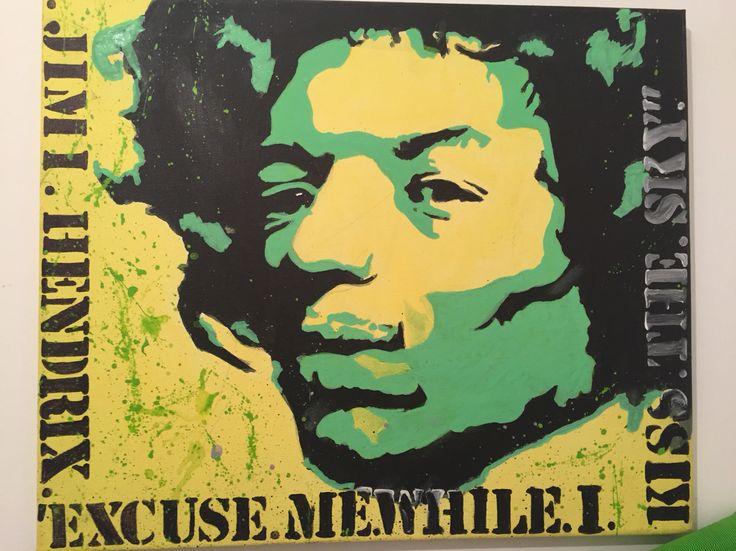 Toile Posca Jimmy Hendrix