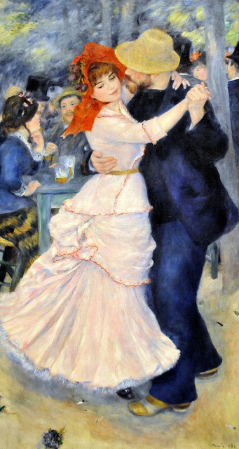 Pierre-Auguste Renoir, Dance at Bougival, 1883, Oil on canvas, 181.9 x 98.1 cm, Museum of Fine Arts, Boston.