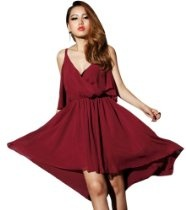 Krazy Sexy Club Cocktail Party Evening Prom Dress #387 Burgundy US Size 0-6