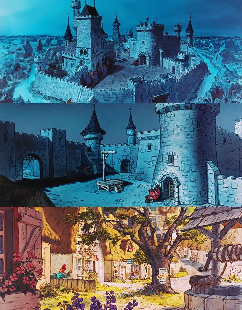 Animation Backgrounds for Robin Hood (1973)