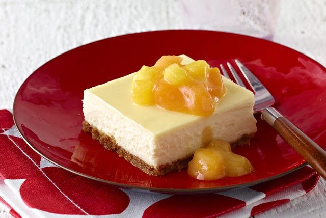 Prepare coconut, pineapples and mangos to make a delicious Pineapple-Mango Cheesecake. Taste the tropical sweetness of this rich, dense mango cheesecake!