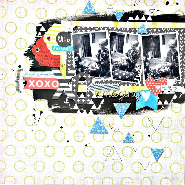 2Crafty Chipboard - 'Amazing' layout by Tammy Klinger...