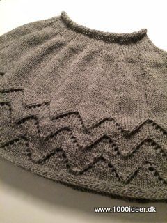 Knitted short poncho - quick and easy
