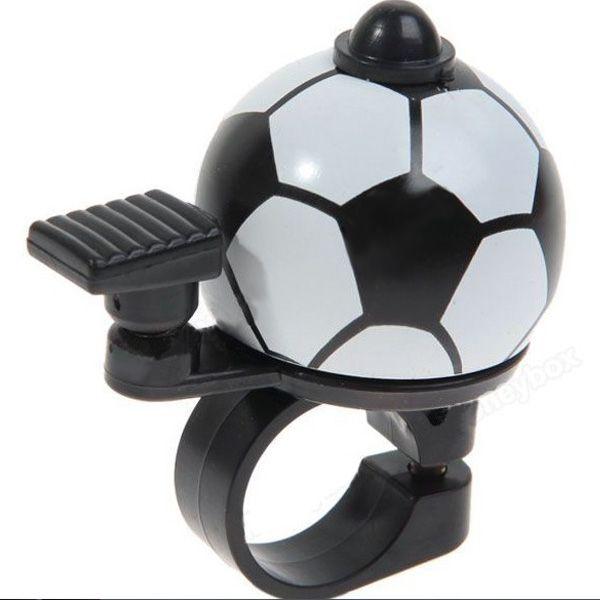 Campana de la bicicleta en forma de aleación de aluminio de mini fútbol duradera
