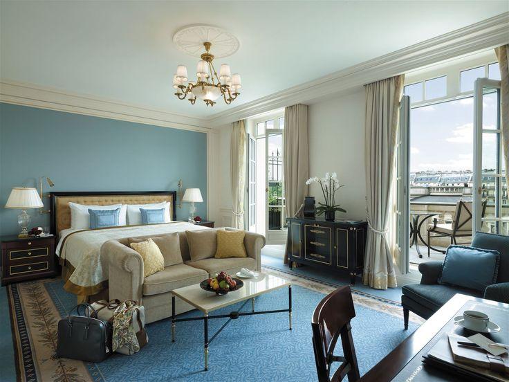 Shangri la Paris, France. #hotel #bed #room #lighting #design #chandelier #romantic #elegance #stylish #lamps