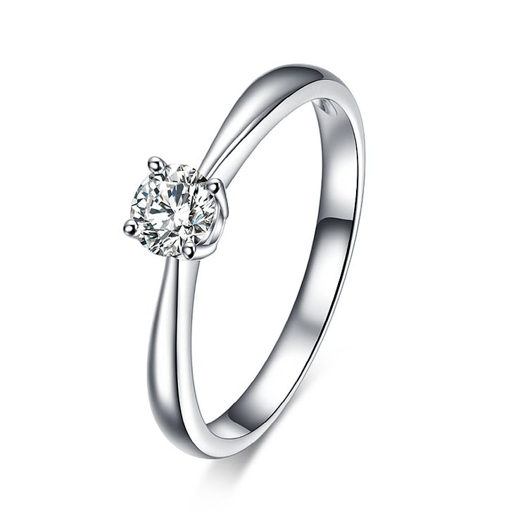 High quality 1.2 carat 4 claws CZ diamond Rings  18K platinum plated Jewelry for women Engagement Party Jewelry Ring Size 16-20