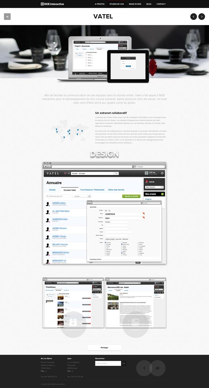 http://noe-interactive.com/fr/etudes-de-cas/vatel #vatel #extranet #NOE #interactive #ui #ux #Lyon #design