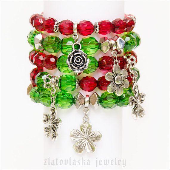Arm Candy Bracelet Set by ZlatovlaskaJewelry on Etsy