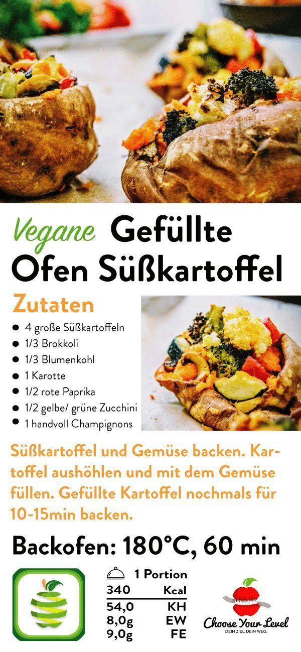 Leckere Rezepte für vegane Gefüllte Ofen-Süßkartoffel, vegane Ofen-Süßigkeit …   – Süßkartoffel Rezepte – Vegan