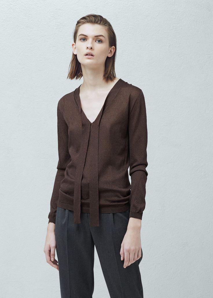 Sweter wiązany przy szyi - Kardigany i swetry dla Kobieta | MANGO