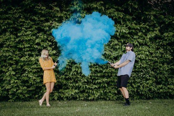 Gender Reveal Powder Smoke Cannons Premium Holi Powder Smoke Etsy Confetti Cannon Gender Reveal Gender Reveal Smoke Gender Reveal