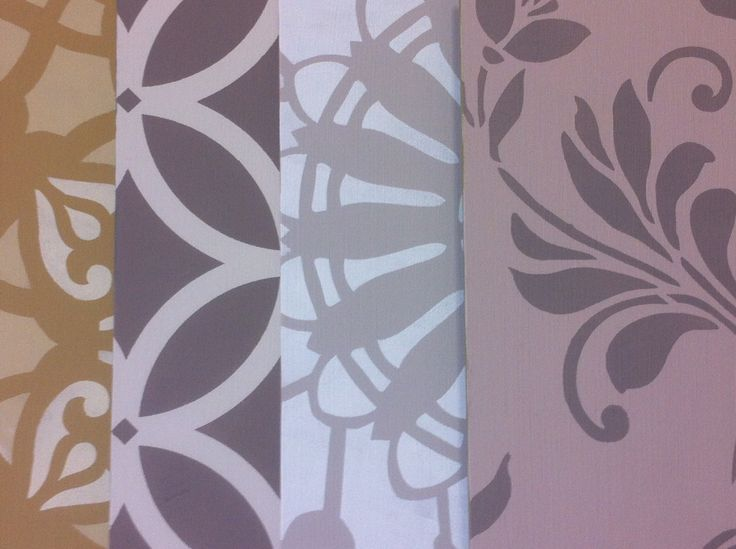 Wall design stencils The luxury of a hand painted wall.  The Paint Makers Co.