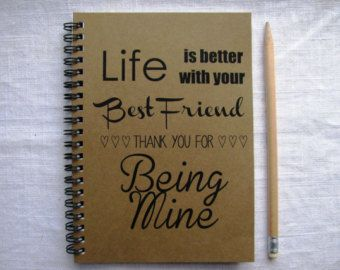 Best Friend Contract 5 x 7 journal by JournalingJane on Etsy