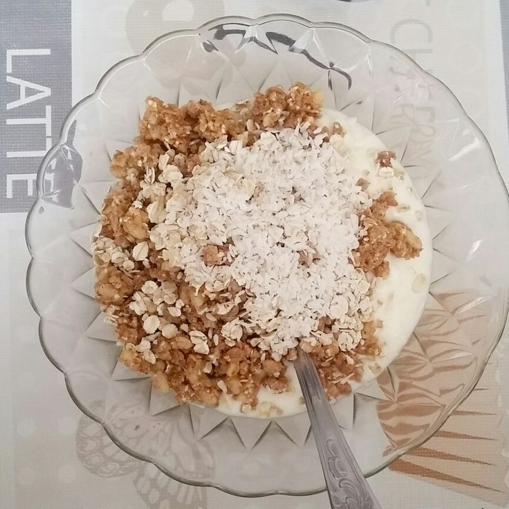 Breakfast with Joghurt amaranth and coconut  follow for more