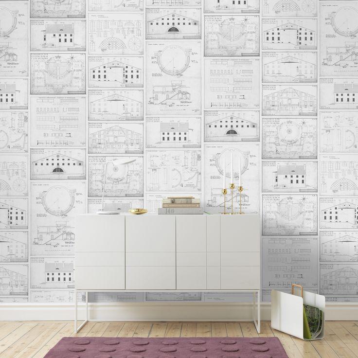 Tingshuset wallpaper by Sandberg