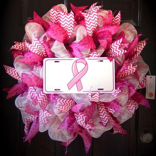 13 best images about breast cancer awareness wreaths on. Black Bedroom Furniture Sets. Home Design Ideas