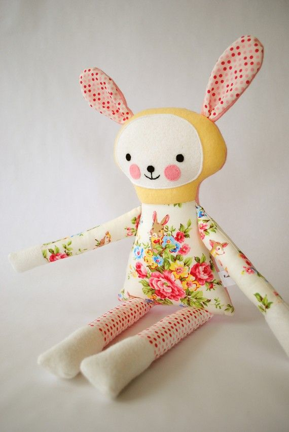 Plush Rabbit Pinned from Heleen Nijland's board, LOVELY Spring -One of the most beautiful boards I have ever seen! Wilda