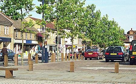 St. Neots Square, St. Neots, Cambridgeshire, England