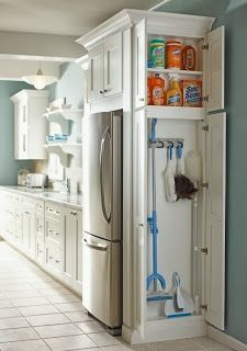 Looking for a free standing broom closet cabinet for your kitchen or perhaps the garage? Here are some top rated broom cabinets that have great customer reviews. Affordable too!  Keep your place neat and tidy and get those ugly brooms and mops out of site!    Photo  Click on the pictures f