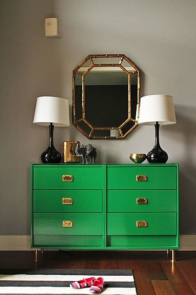 Decorating with Rainforest Green #BHGcolor