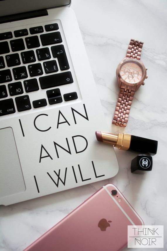 I Can and Will Me Macbook Decal / Laptop Decal / Inspirational Text Decal / Laptop Sticker