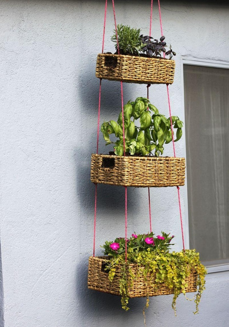 ... Reuse Renew Mother Earth Projects: How to make a HANGING BASKET GARDEN