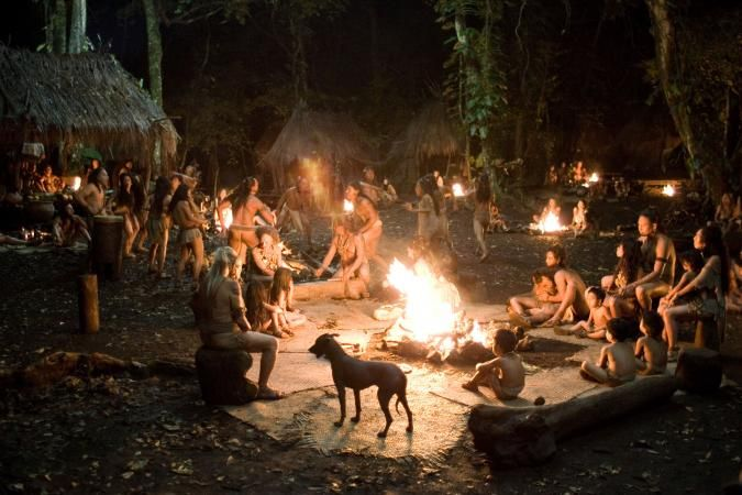 Architecture: In the film Apocalypto the village at the start well resembles the kind of settlement i want this map to set within. Small thatched huts beneath a lush, green canopy of drooping rain forest trees.