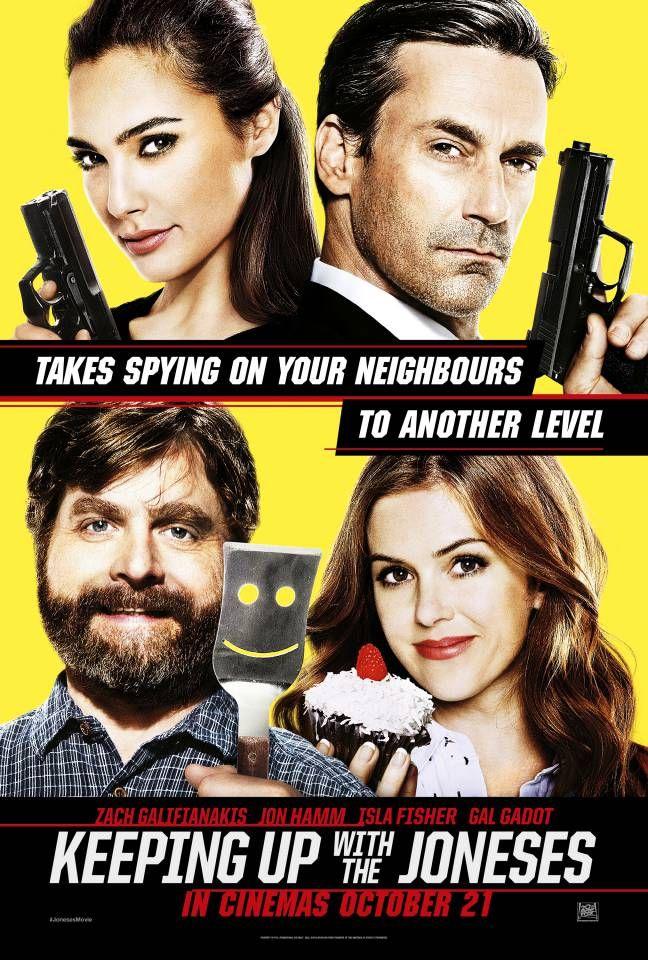Gal Gadot e Jon Hamm são os destaques do cartaz do filme Vizinhos Nada Secretos.