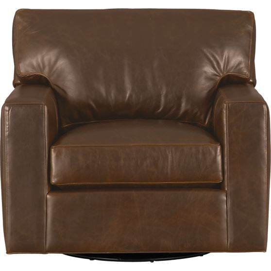Axis II Leather Swivel Chair in Chairs | Crate and Barrel