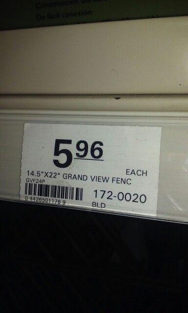 Fence @ Menards