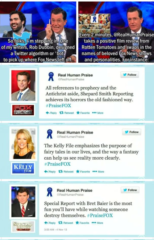 Colbert Report creates a tweet bot to promote Fox News
