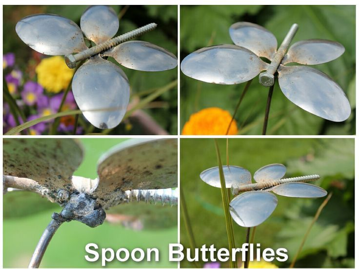 DIY Garden Trinkets • A round-up full of great ideas and tutorials! Including, from 'gardening help', these gorgeous diy spoon butterfly ornaments.
