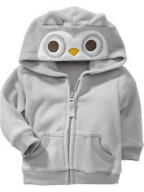Micro Performance Fleece Animal Hoodies for Baby
