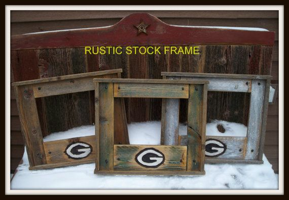 Green Bay Packer Barn wood Stock Frame by Once Abarn A by onceabarnatime, $49.00