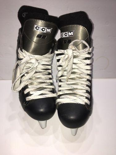 CCM NHL 92 Youth Junior Ice Hockey Skates Size 5.5 Black/White