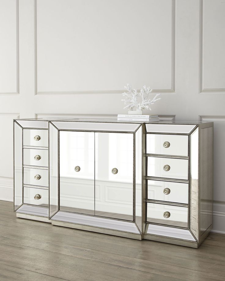 Shilo Two Door Mirrored Sideboard Cabinets Amp Storage