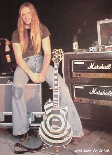 Zakk Wylde-Lead Guitarist for Ozzy. Did you know...he married and is still married to his high school sweet heart? AND...he claims to be a soldier for Christ? He ROCKS :)!!!